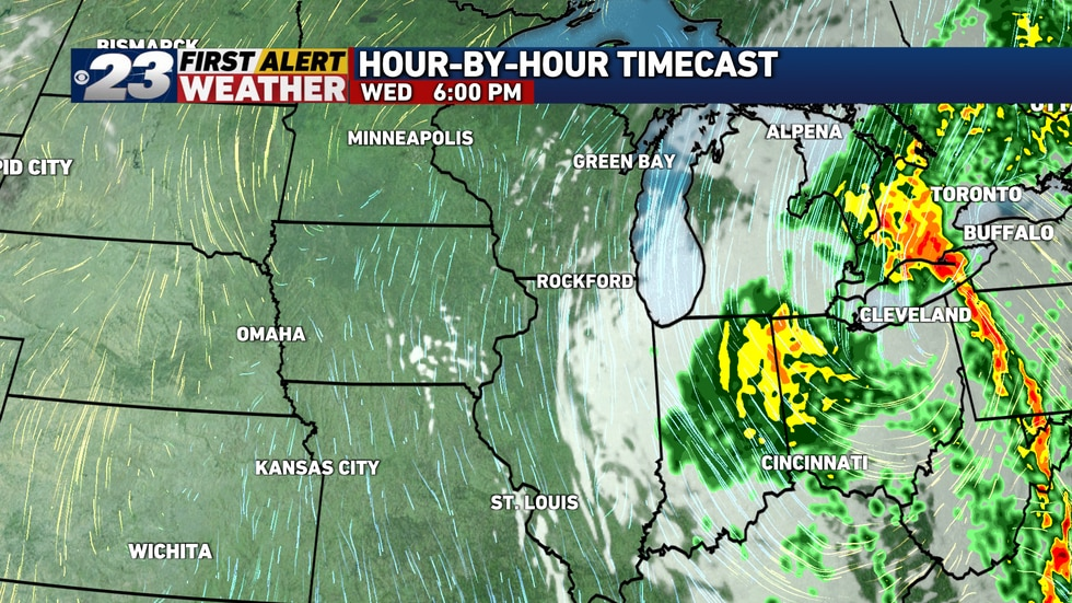 Clouds have been persistent to our east, with more sunshine to the west. Plenty of rain has...