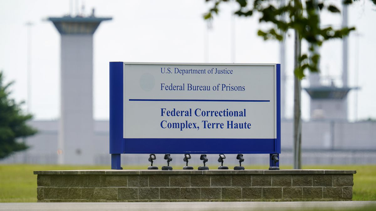 FILE - This Aug. 28, 2020, file photo shows the federal prison complex in Terre Haute, Ind. The...