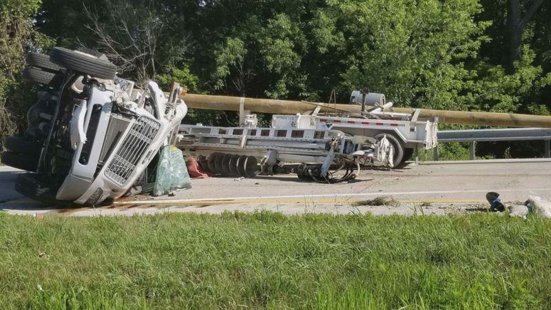 U.S. 20 closed near Keith Road for rollover crash.