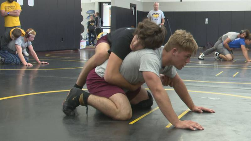 The Lena-Winslow/Stockton co-op will send seven wrestlers to the Illinois Wrestling Coaches and...