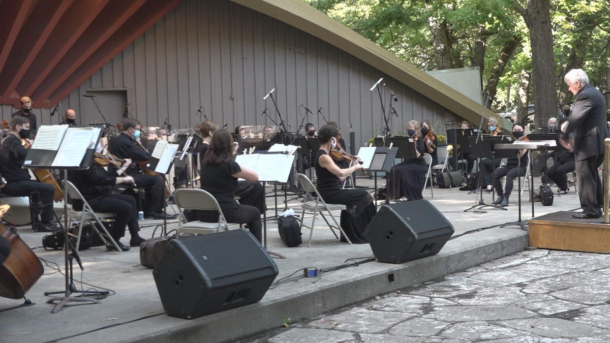 Rockford Symphony Orchestra at the Sinnissippi Music Shell.