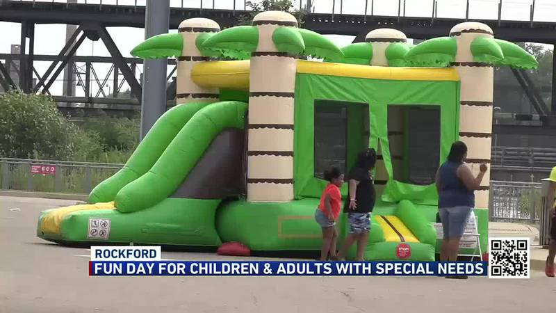 The event was sponsored by the Rockford Park District and offered people food, a chance to play...