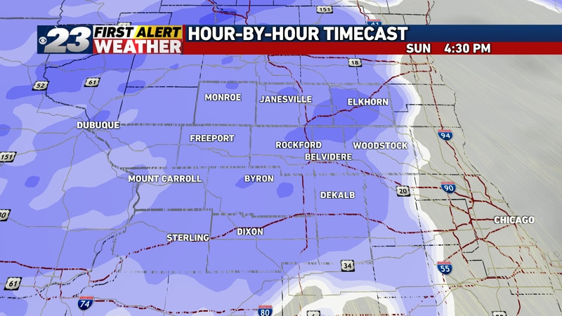 A period of accumulating wet snow is expected primarily Sunday afternoon and evening, with a...
