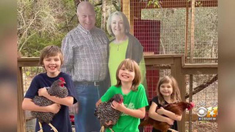 Missy and Barry Buchanan sent cardboard cutouts of themselves to their kids because they...