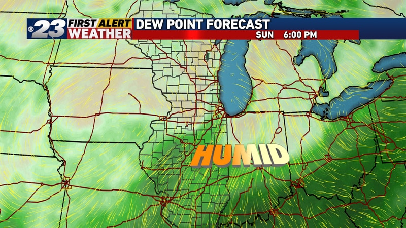 After Saturday's cold front, seasonably warm but less humid conditions continuing into early...