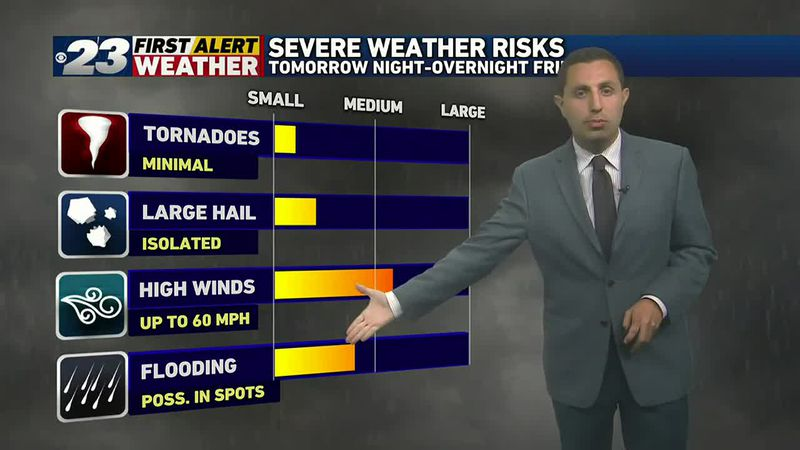 Severe Weather Risk Thursday to Early Friday