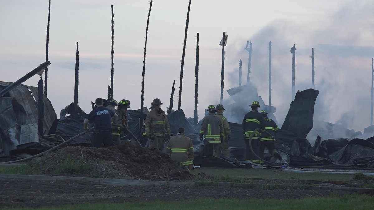 The Durand Fire Department says damages are estimated at more than one million dollars.