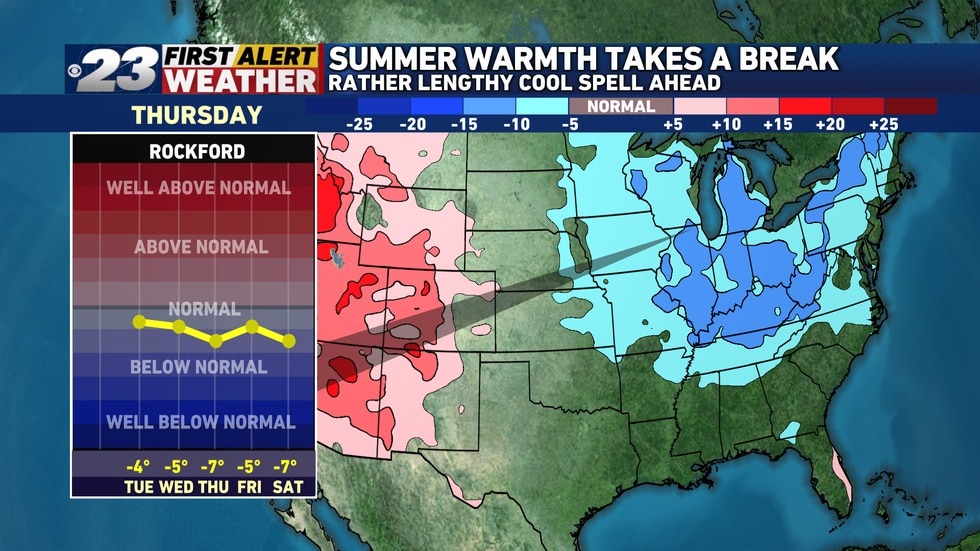 Cooler than normal temperatures are on track to arrive Tuesday and will likely stick around for...