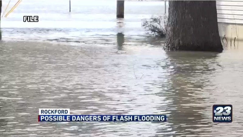 Rain showers bring the possibility for flash floods