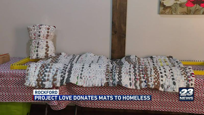 Project Love Donates Mats to Homeless