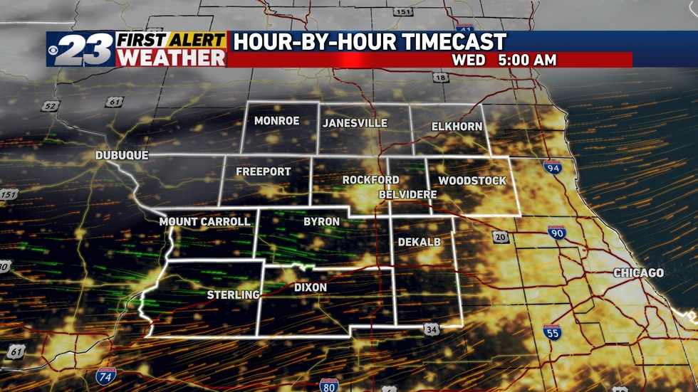 Clear skies and lighter winds will allow temperatures to crash early Wednesday morning, likely...