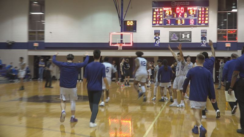 Rockford University knocks off Aurora University to win the NACC south division.