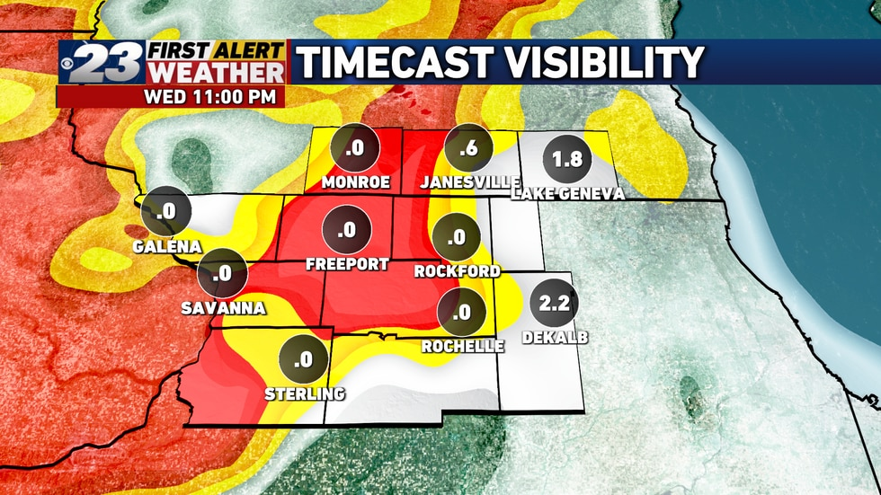 Patches of locally dense fog are likely by the late evening hours.