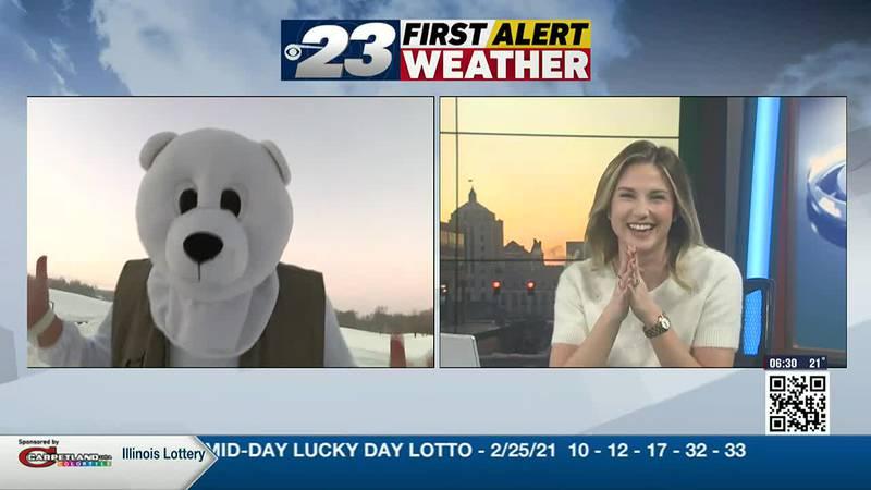 Andy Gannon as the Polar Plunge Bear