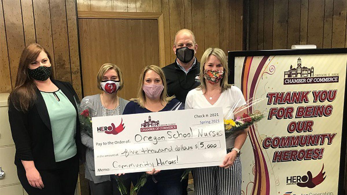 Nurses at Oregon School District receive 'Hero Award' from Oregon Chamber, Byron Generating...