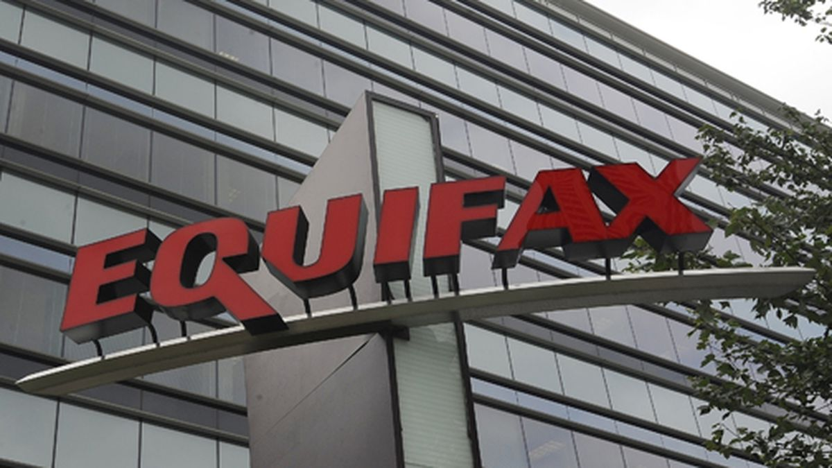 This July 21, 2012 file photo shows signage at the corporate headquarters of Equifax Inc., in Atlanta. (AP Photo/Mike Stewart, File)