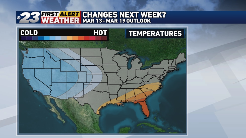 Temperatures near or slightly below normal look to return to the forecast over the latter half...