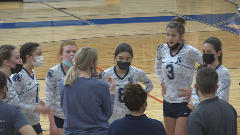 In straight sets the Blue Thunder knock off conference title contender Hononegah.