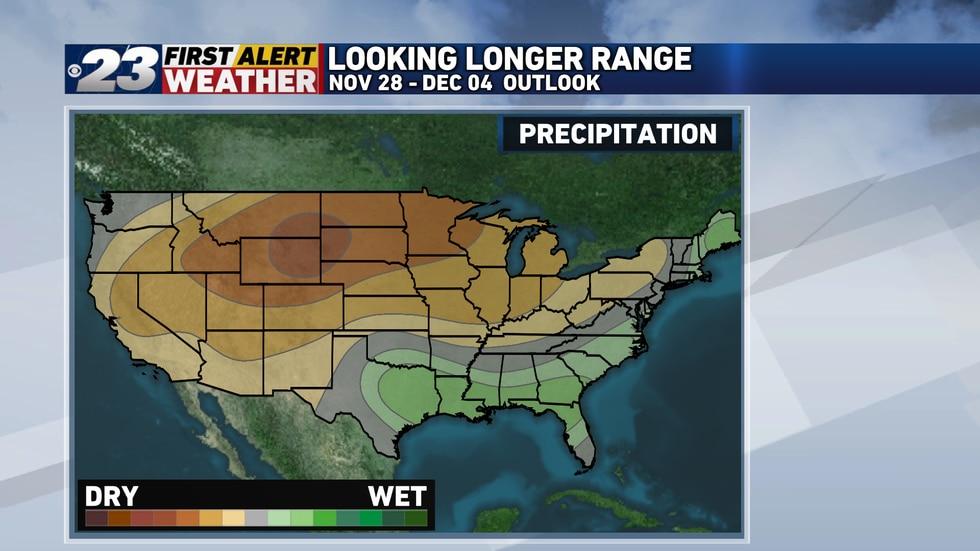 Expect below normal precipitation going into December.