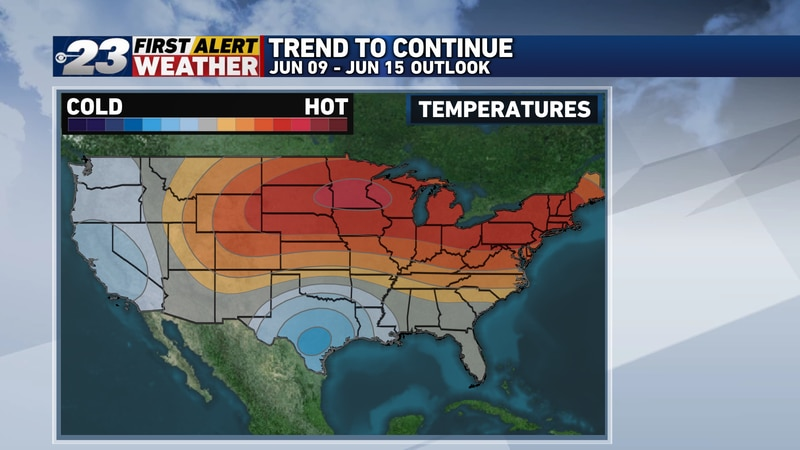 All signs point to the hot and increasingly humid pattern to continue through the first half of...