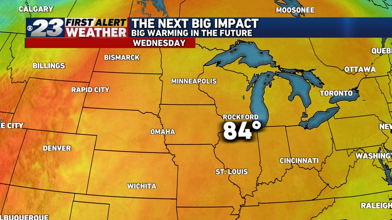 After a few days with winds off Lake Michigan to start the week, temperatures should surge into...