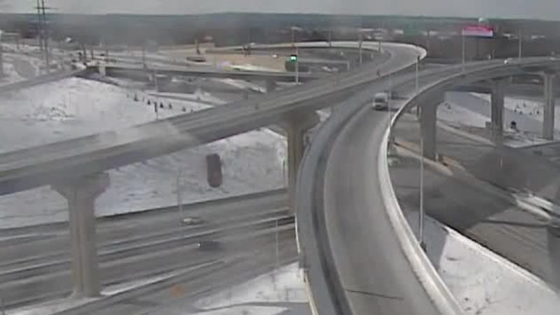 The pickup fell 70 feet onto westbound Interstate 94, according to the Milwaukee County...