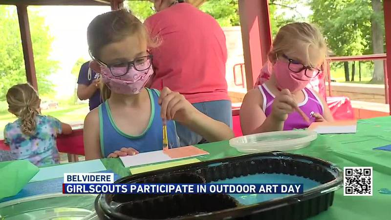 Outdoor day in Belvidere for the Girl Scouts