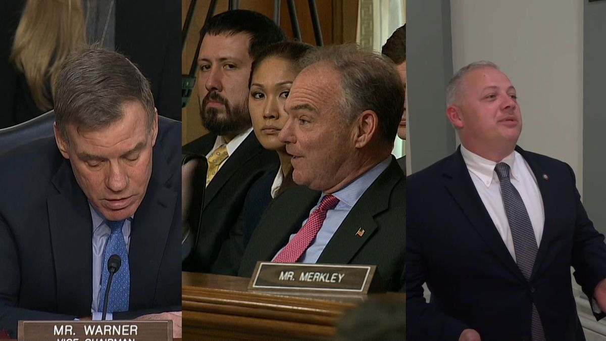 Virginia lawmakers, Democratic Sens. Tim Kaine and Mark Warner, plus Rep. Denver Riggleman (R), weigh in on the discussion about policing reforms and public safety. (Source: GrayDC)