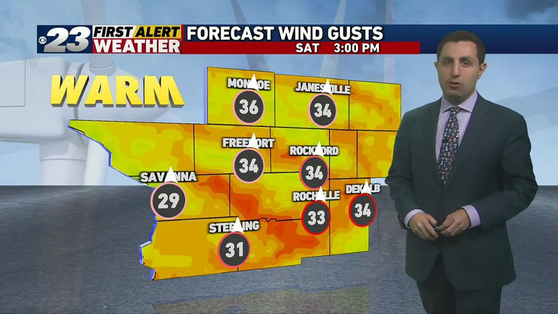 Warm winds will make it quite breezy for Halloween