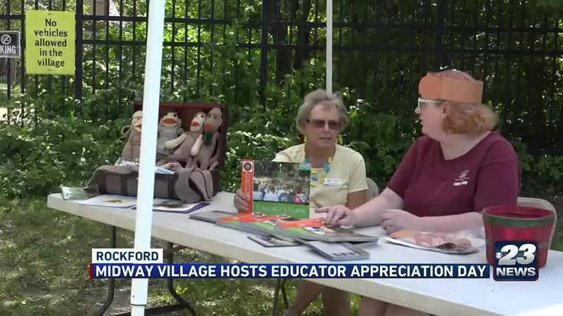After many teachers had a tough 2020, Midway Village in Rockford says thank you by hosting...