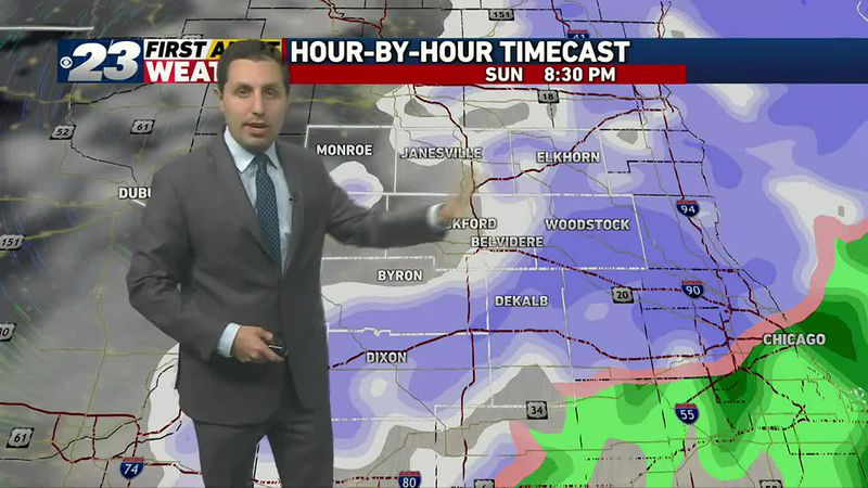 Accumulating snow expected Sunday