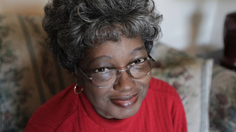 FILE - In this Thursday, Feb. 5, 2009 file photo, Bronx resident Claudette Colvin talks about...