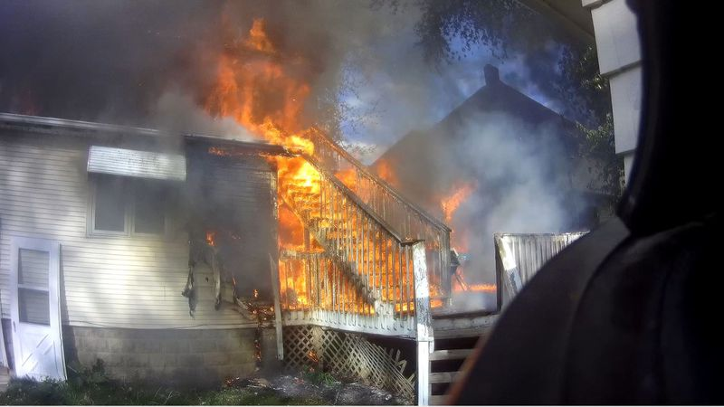 Three cats are dead after a fire at a home in Belvidere on Friday.