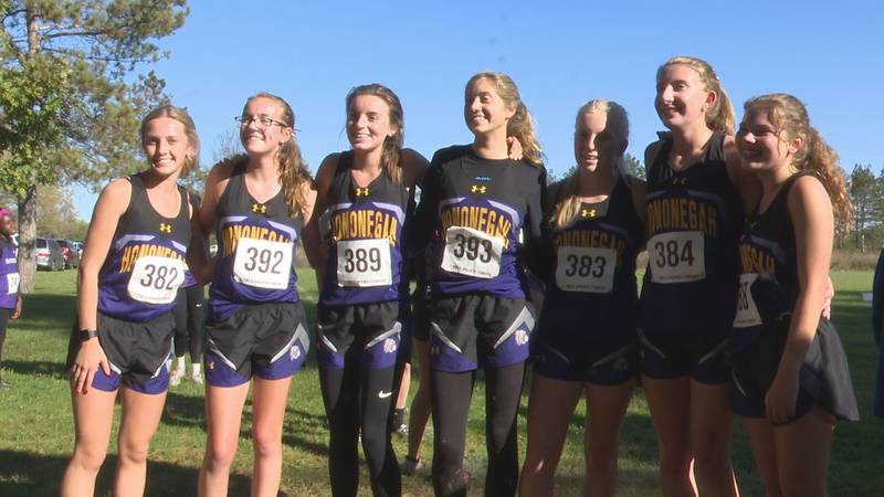 Hononegah girls cross country finished second as a team at the Class 3A Harlem regional.