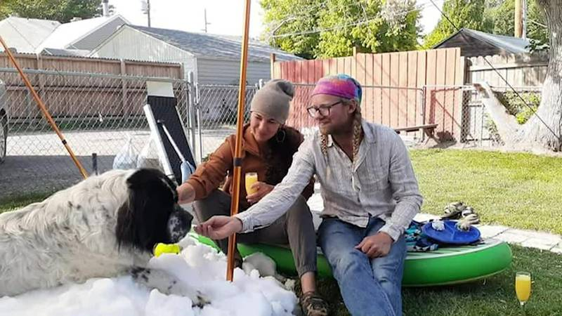An ice-skating center made snow to grant dog's dying wish.