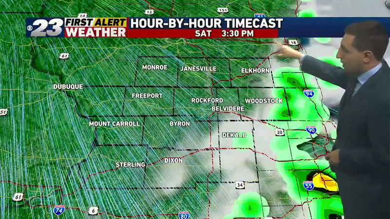Cold front arrives Saturday afternoon