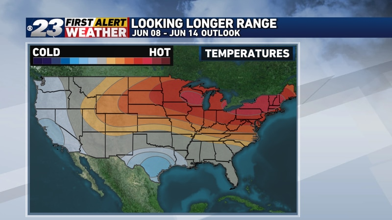 The warmer pattern is likely to be a lengthy one, likely encompassing the first half of June,...