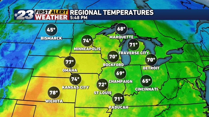 Changes are on the way, as much cooler air is to settle in.