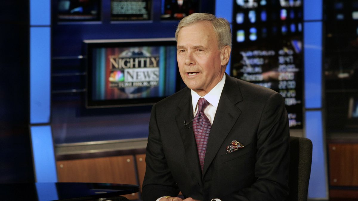 "FILE - ""NBC Nightly News"" anchor Tom Brokaw delivers his closing remarks during his final..."