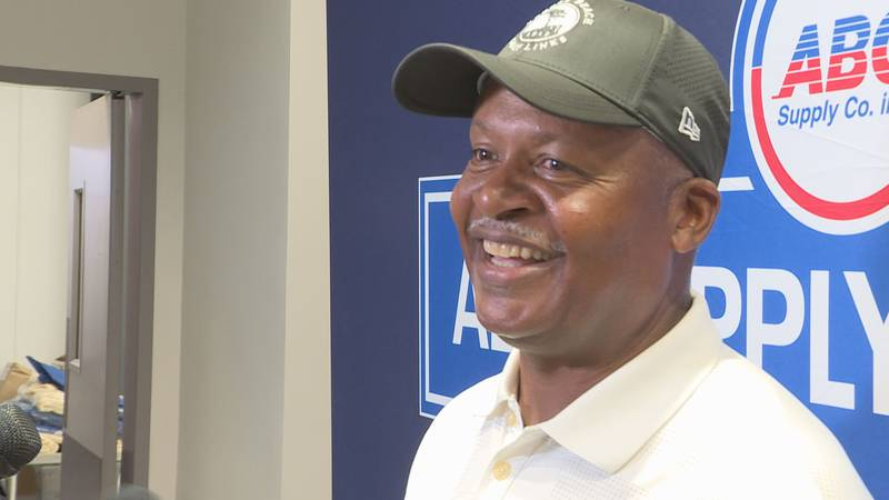 Beloit native and Super Bowl winning coach Jim Caldwell threw out the first pitch at the...