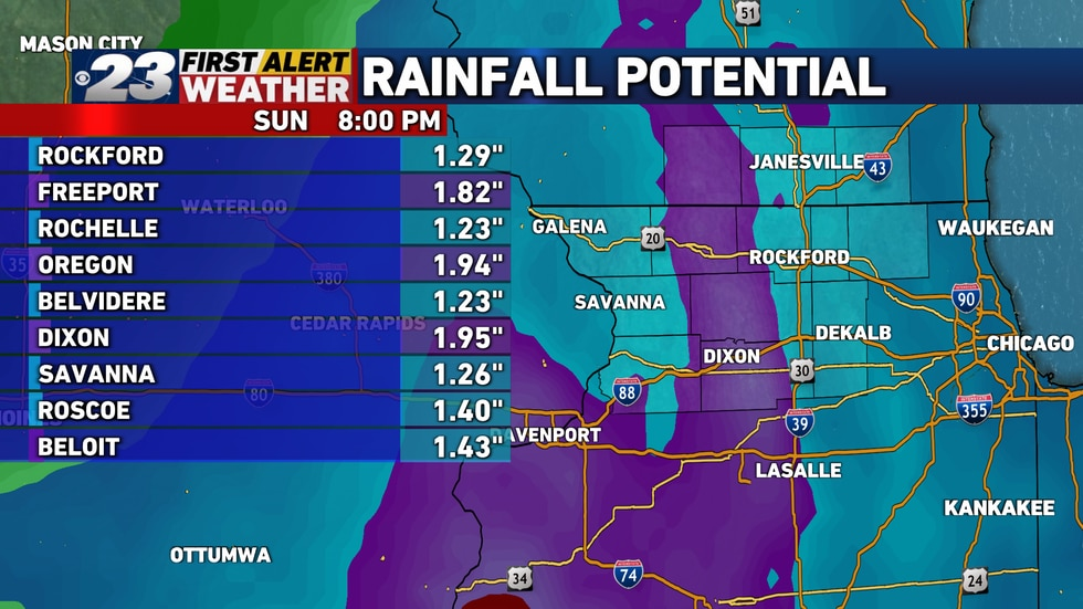 Some decent rains are heading our way Saturday and into Sunday.