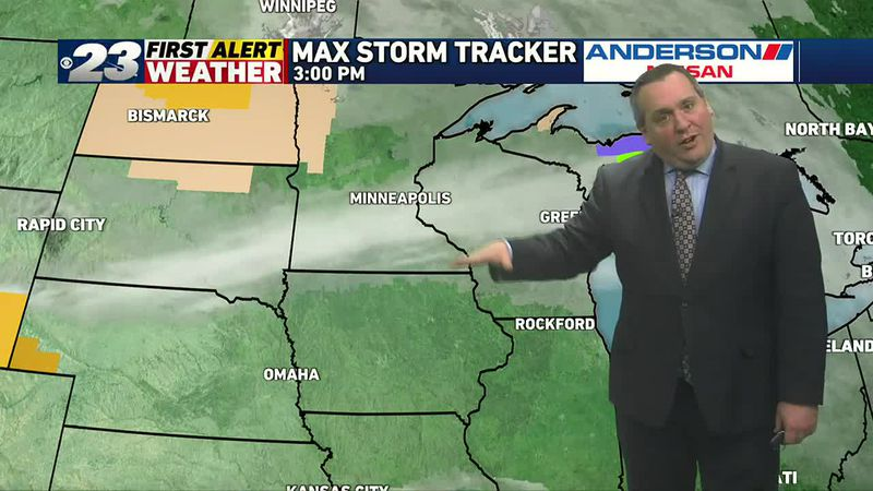 Two cold fronts will drop through the Stateline over the next two days.