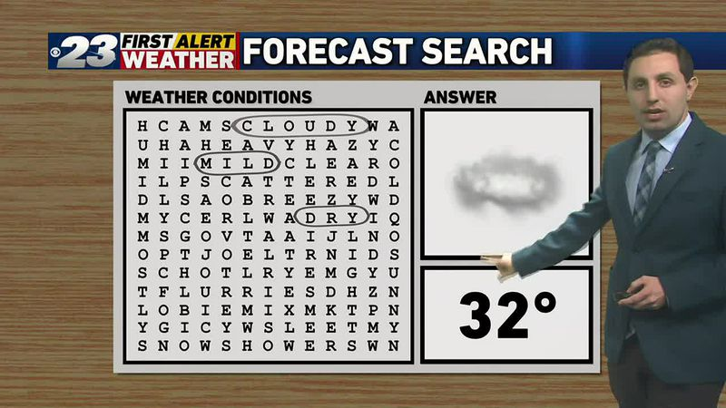 Mild, cloudy and dry stretch ahead