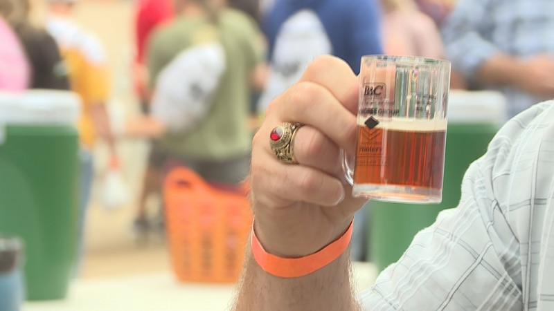 The festival offered over 150 craft beers to sample.