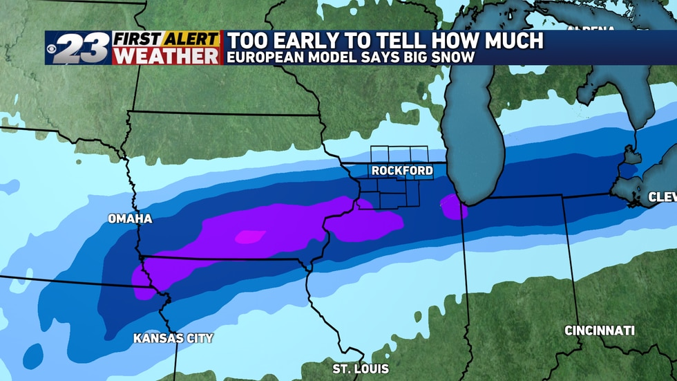 The European Model is much more bullish in producing significant snow over much of northern...