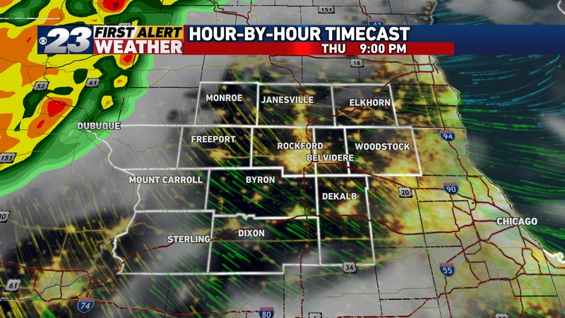 The next complex of showers and storms will be on approach Thursday evening.