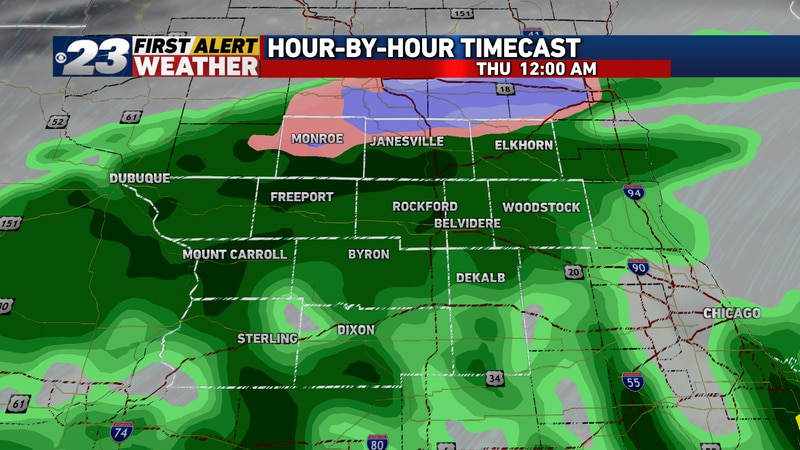 Steady rain will continue late Wednesday night into early Thursday morning, though potentially...