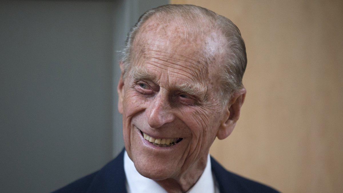 FILE - In this June 8, 2015 file photo, Britain's Prince Philip smiles after unveiling a plaque...