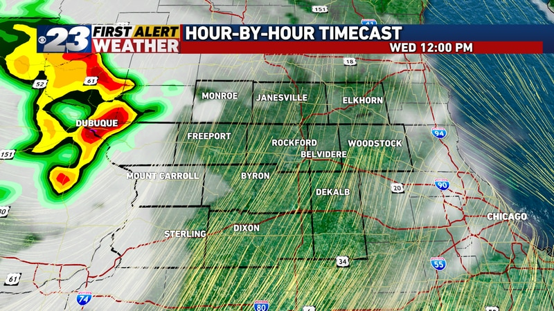 After a sunny start to Wednesday, clouds will gather in the afternoon and thunderstorms enter...