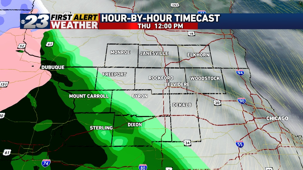 Precipitation's likely to start in the form of rain around midday, though close attention to...
